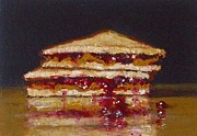 Sandwich Paintings - Peanut Butter And Lotsa Jelly Sandwich by William McLane