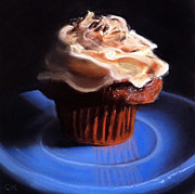Cupcake Paintings - Peanut Butter Cupcake by Cristine Kossow