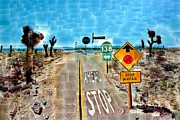 Wa Painting Metal Prints - Pear Blossom Hwy Metal Print by David Hockney