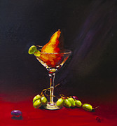 Grapes Painting Posters - Pear Martini Poster by David Gorski