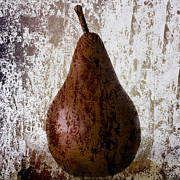 Fruit Still Life Posters - Pear on the Rocks Poster by Carol Leigh
