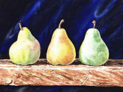 Pear Art Framed Prints - Pear Pear and Pear Framed Print by Irina Sztukowski