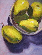 Pear Art Framed Prints - Pear Shadows Framed Print by Nancy Merkle