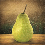 Square Canvas Posters - Pear Poster by Taylan Soyturk