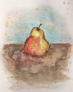 Food And Beverage Mixed Media Posters - Pear Too Poster by Tee Thompson