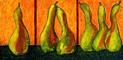 Contemporary Mixed Media - Pear Whimsy by Bellesouth Studio