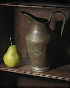 Pear With Water Jug Print by Krasimir Tolev