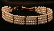 Wire Wrap Jewelry Art - Pearl Bracelet by Alicia Short