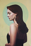 Evening Dress Painting Originals - Pearl Earring by Gary  Hernandez