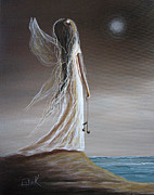 Angel Wings Paintings - Pearl Fairy by Shawna Erback by Shawna Erback