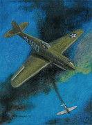 Plane Paintings - Pearl Harbor P-40 by Norb Lisinski