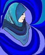 Hijab Metal Prints - Pearl in a shell Metal Print by Shaz Aslam