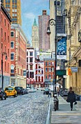 Taxi Framed Prints - Pearl Paint Canal St. from Mercer St. NYC Framed Print by Anthony Butera