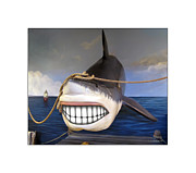 Shark Digital Art Prints - Pearly Whites Print by Brian Wallace