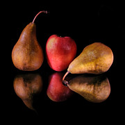 Kithcen Prints - Pears and Apple Print by Fred LeBlanc