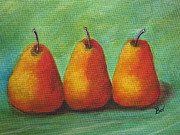 Pear Tree Painting Posters - Pears Poster by Beverly Livingstone