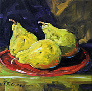 Pears In The Light By Prankearts Print by Richard T Pranke