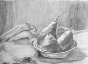 Pears Drawings Framed Prints - Pears Framed Print by Jimmie Trotter