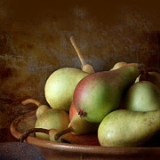 Interior Still Life Framed Prints - Pears on a plate  Framed Print by Artskratches