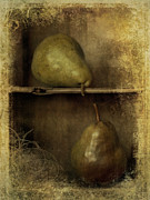 Brown Pears Framed Prints - Pears Framed Print by Priska Wettstein