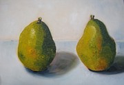 Pears Drawings Framed Prints - Pears Framed Print by Rosalina Bojadschijew