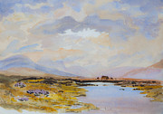 Turf Paintings - Peat Bogs of Connemara by Rob Hemphill