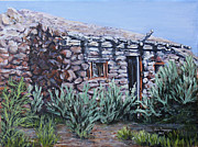 Ranchers Paintings - Peavine Ruins by Julie Townsend