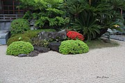Pebble Photo Originals - Pebble garden at Temple  by Yumi Johnson