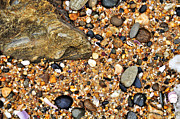 Pebbles And Sand Print by Kaye Menner
