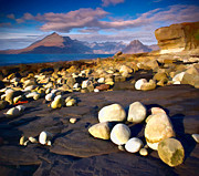 Skye Digital Art Posters - Pebbles at Elgol Poster by Les Ellingham