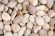 Beige Wall Art Framed Prints - Pebbles Framed Print by Natalie Kinnear
