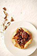 Parchment Framed Prints - Pecan Pastry Framed Print by HD Connelly