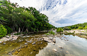 Hamilton Pool Texas Posters - Pedernales River - Downstream Poster by David Morefield