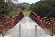 Pedestrian Bridge Fernandez Ranch California - 5d21031 Print by Wingsdomain Art and Photography