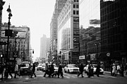 Manhaten Framed Prints - Pedestrians Crossing Crosswalk On 34th Street And 6th Avenue New York City Streets Usa Framed Print by Joe Fox