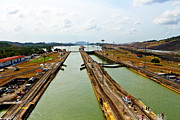 Pedro Framed Prints - Pedro Miguel Locks Panama Canal Framed Print by Kurt Van Wagner