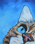 Cat Art Originals - Peek A Boo by Patti Schermerhorn
