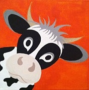 Moo Originals - Peekaboo Cow by Preeti Kodikal
