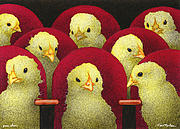 Chickens Paintings - Peep Show... by Will Bullas