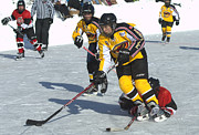 Pond Hockey Photos - PeeWee Select 3 by Rob Andrus