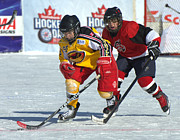 Pond Hockey Photos - PeeWee Select 4 by Rob Andrus