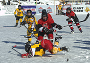 Pond Hockey Photos - PeeWee Select 5 by Rob Andrus