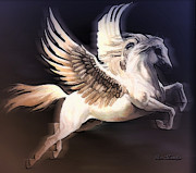 Extinct And Mythical Digital Art Originals - Pegasus by Arco Montufar