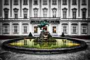 Salzburg Framed Prints - Pegasus Fountain Framed Print by Ryan Wyckoff