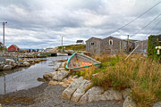 Green Color Art - Peggys Cove 12 by Betsy A Cutler East Coast Barrier Islands