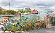 Crab Traps Prints - Peggys Cove 5 Print by Betsy A Cutler East Coast Barrier Islands