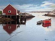 Dock Drawings Originals - Peggys Cove by Brent Ander