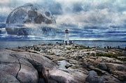 Halifax Prints - Peggys Moon Print by Betsy A Cutler East Coast Barrier Islands