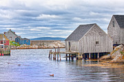 Fishing Shack Prints - Peggys Paradise Print by Betsy A Cutler East Coast Barrier Islands