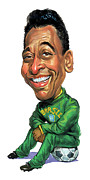 Caricaturist Metal Prints - Pele Metal Print by Art